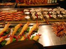 зажженные продукты моря Стоковое Изображение