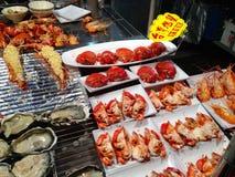 зажженные продукты моря Стоковые Фото