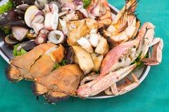 зажженные продукты моря Стоковое Изображение RF