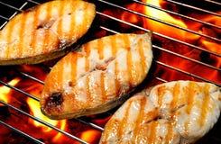 Зажженные рыбы Стоковое фото RF