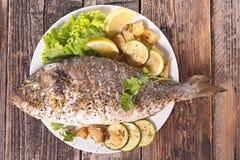 Зажженные рыбы dorado Стоковое Изображение RF