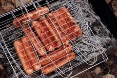 зажженные сосиски Стоковое Изображение