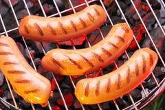 зажженные сосиски стоковое фото