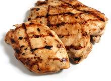 зажженные цыпленком стейки мяса Стоковое фото RF