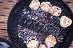 зажженные champignons Стоковая Фотография