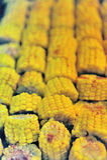 зажженные corncobs предпосылки Стоковые Фотографии RF