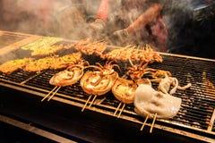 Зажженные cuttlefish Стоковая Фотография