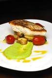 зажженный рыбами ресторан еды Стоковая Фотография