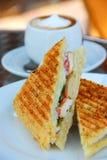 зажженный сандвич стоковое фото rf