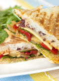 зажженный сандвич Стоковая Фотография