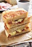 Зажженный сандвич сыра Стоковое фото RF