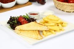Зажженный сандвич сыра Стоковое Фото