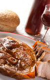 зажженный стейк мяса Стоковая Фотография RF