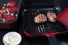 зажженный стейк свинины Стоковая Фотография RF