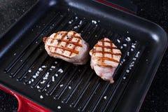 зажженный стейк свинины Стоковые Изображения RF