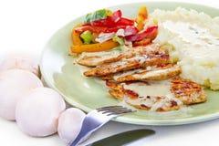 Зажженный стейк цыпленка Стоковое фото RF