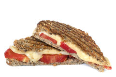 зажженный сыром томат сандвича Стоковое Изображение RF