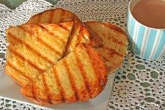 зажженный сыром чай сандвича Стоковые Фото