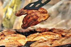 зажженный цыпленок груди Стоковое Изображение RF