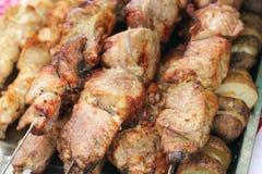 зажженный цыпленком протыкальник ресторана мяса Стоковое Изображение RF