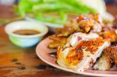 зажженный цыпленок груди Стоковое фото RF