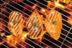 зажженный цыпленок груди Стоковая Фотография