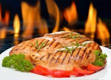 зажженный цыпленок Стоковое Фото