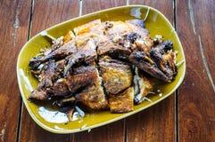зажженный цыпленок bbq Стоковые Изображения RF