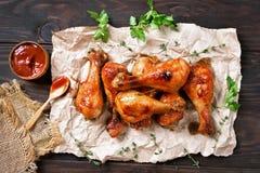 зажженный drumstick цыпленка Стоковые Изображения RF
