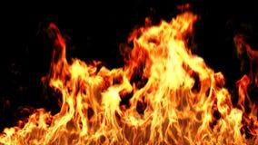 Зажигание огня с маской альфы иллюстрация вектора