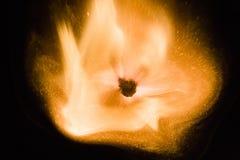 Зажигание спички на черной предпосылке Стоковые Изображения