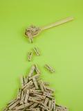 Зажимка для белья в ложке Стоковое фото RF