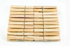 Зажимки для белья деревянные Стоковое Изображение