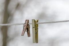 Зажимки для белья Стоковая Фотография