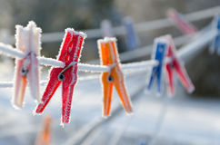 Зажимы зимы Стоковое Изображение