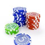 зажимы играя в азартные игры Стоковое Изображение