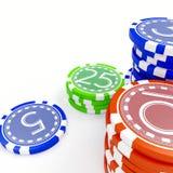 зажимы играя в азартные игры Стоковые Изображения RF