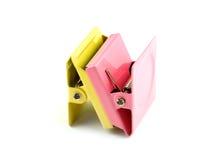 Зажимы металла бумажные с магнитами Стоковые Изображения
