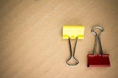 зажимы металла бумажные Стоковое фото RF