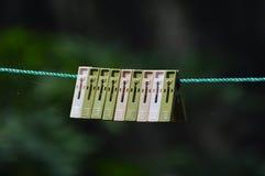 Зажимы смертной казни через повешение ткани Стоковое фото RF