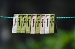 Зажимы смертной казни через повешение ткани Стоковое Фото