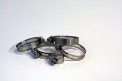 Зажимы для резиновой трубы Стоковое Фото