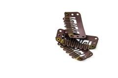 Зажим в зажимах расширения - коричневый цвет Стоковая Фотография RF