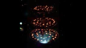 Зажим для индусского фестиваля огней Diwali Идеал для приветствий видеоматериал