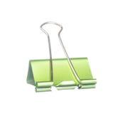 Зажим зеленой книги изолированный на белизне Стоковая Фотография RF