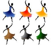 зажим искусства танцуя различные женщины иллюстрация штока