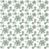 Зажим-искусство зеленых растений и цветков Стоковая Фотография RF