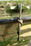 Зажим и веревочка шлюпки Стоковые Изображения RF
