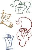 зажим рождества искусства давая комплект Стоковые Изображения