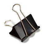зажим связывателя черный Стоковые Фотографии RF